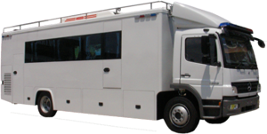 Riot Control Vehicle with Breathing Air System Installed